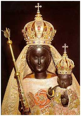 Black Madonna at Swiss Abbey of Einsiedeln