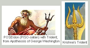 PISO = POSEIdon with Trident; from Apotheosis of George Washington